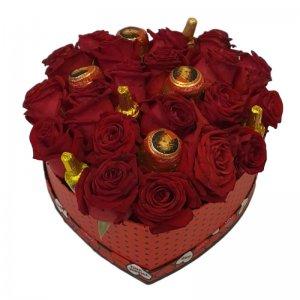 לב של ורדים